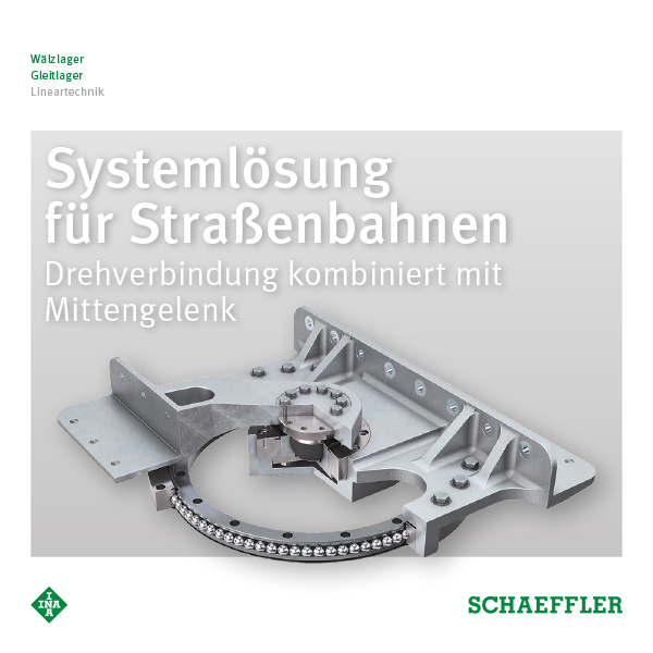 Systemlösung für Straßenbahnen Drehverbindung kombiniert mit Mittengelenk