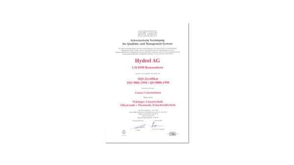 Système de gestion de qualité certifié selon QS 9000 / VDA 6.1