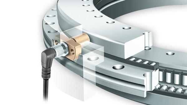 YRTCM/YRTSM-Messsystemlager mit SRM-Messelektronik zur inkrementellen, magnetoresistiven Winkelmessung