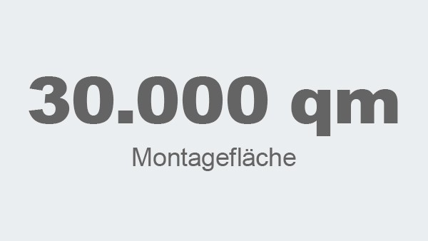 30.000 qm Montagefläche insgesamt